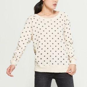 Philosophy Long Sleeve Polka Dot Sweatshirt.NWT!